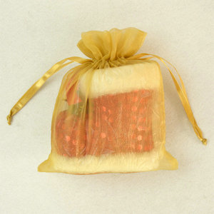china suppliers christmas organza packaging bag with drawstring